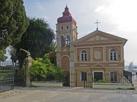 Mandrakinas Church, Corfu Greece